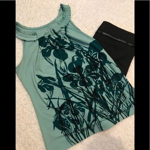 Mint Colored Floral Top